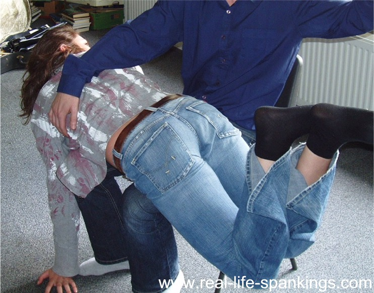 jeans spanking