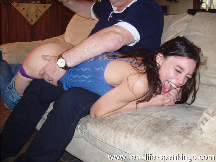 With daddy daughter spank